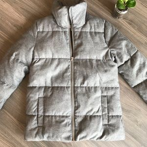 FROST FREE DOWN PUFFY JACKET HEATHER GRAY XS